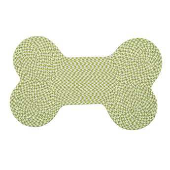 Colonial Mills Dog Bone Houndstooth Lime Area Rug CIOT69RG