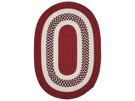 Colonial Mills Flowers Bay Patriot Red Oval / Round Area Rug