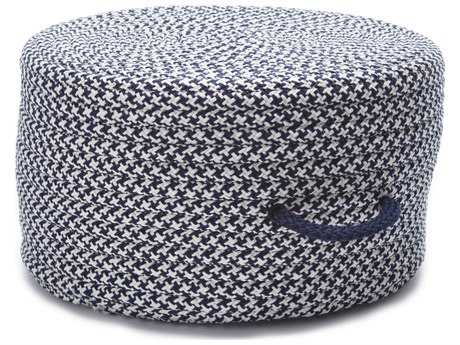 Colonial Mills Houndstooth Navy 20''x20''x11'' Round Pouf CIUF59PFROU