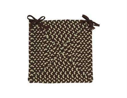 Colonial Mills Montego Bright Brown Chair Pad (Set of 4)