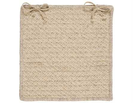 Colonial Mills Natural Wool Houndstooth Cream Chair Pad (Set of 4) CIHD31CPDS4