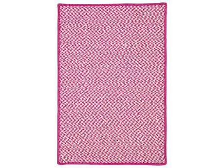 Colonial Mills Outdoor Houndstooth Tweed Magenta Rectangular / Square Area Rug