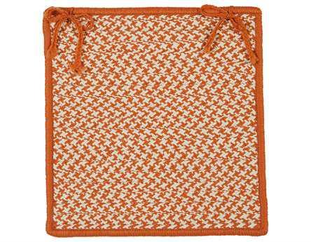 Colonial Mills Outdoor Houndstooth Tweed Orange Chair Pad (Set of 4) CIOT19CPDS4