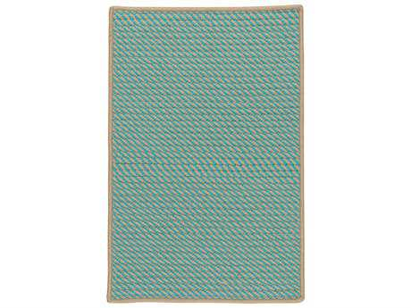 Colonial Mills Point Prim Teal Rectangular / Square Area Rug