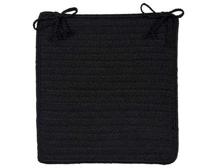 Colonial Mills Simply Home Solid Black Chair Pad (Set of 4)