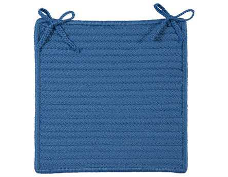 Colonial Mills Simply Home Solid Blue Ice Chair Pad (Set of 4)
