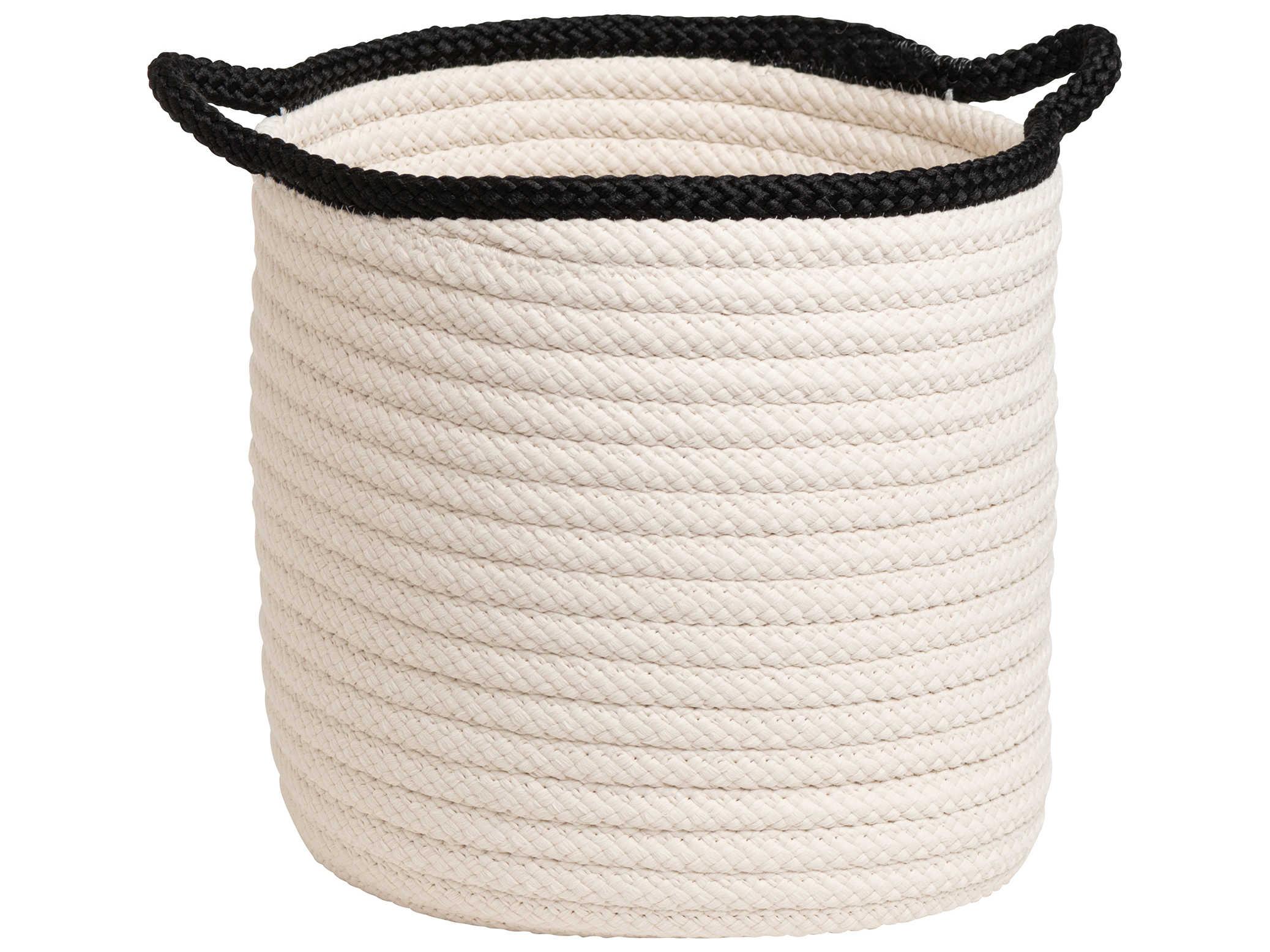 Colonial Mills Indoor//Outdoor Two-Toned Storage Basket Navy