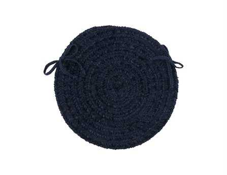Colonial Mills Spring Meadow Navy Chair Pad (Set of 4) CIS503CPDS4ROU