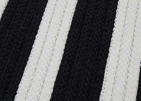 Colonial Mills Stripe It Rectangular Black White Area Rug CITR89RGREC
