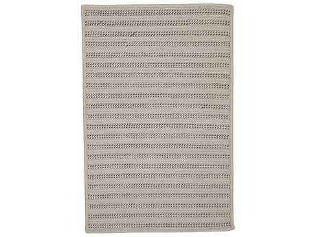 Colonial Mills Sunbrella Booth Bay Mink Rectangular Area Rug PatioLiving