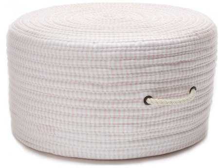 Colonial Mills Ticking Fabric Stripe Pink 20''x20''x11'' Round Pouf CITX70PFROU