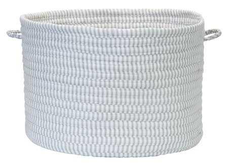 Colonial Mills Ticking Solids Gray 18''x18''x12'' Round Basket CITX90BKTROU