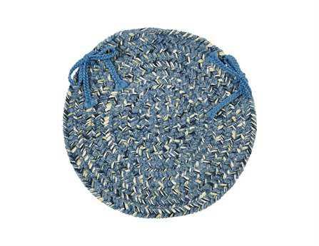 Colonial Mills West Bay Blue Tweed Chair Pad