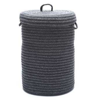Colonial Mills Wool Blend Slate Gray 16''x16''x24'' Round Hamper CIWW19HMPROU