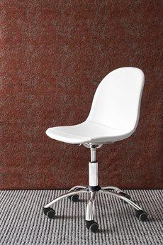 Connubia Academy Optic White & Chrome Swivel Computer Chair CNUCB1911SKP77S92