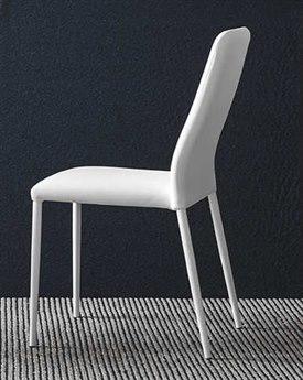 Connubia Club Optic White & Chrome Dining Chair