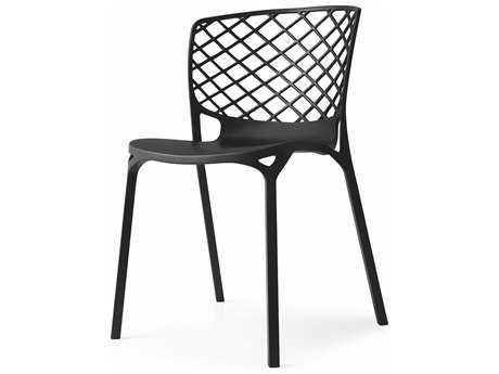 Connubia Gamera Matte Black Outdoor Stackable Chair CNUCB1459P15