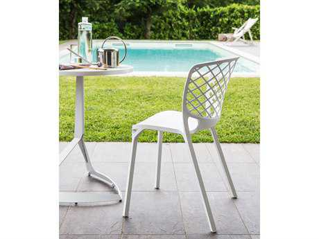 Connubia Gamera Matte Optic White Outdoor Stackable Chair
