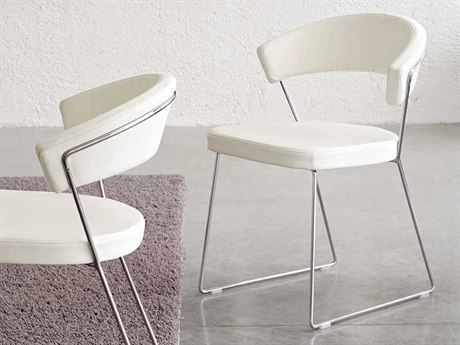 Connubia New York Chrome Dining Side Chair