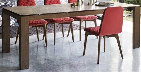 Connubia Sigma Glass 71-95''W x 39''D Rectangular Extending Dining Table CNUCB4069LV180