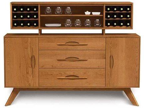 Copeland Furniture Audrey 66''L x 18''W Rectangular Buffet with Hutch