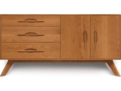 Copeland Furniture Audrey 66''L x 18''W Rectangular Three-Drawer on Left Buffet