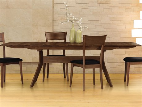 Copeland Furniture Audrey 72''-96''L x 38''W Rectangular Trestle Extension Dining Table CF6AUD21