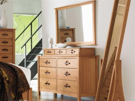 Copeland Furniture Berkeley Six-Drawers Double Dresser with Hutch & Mirror