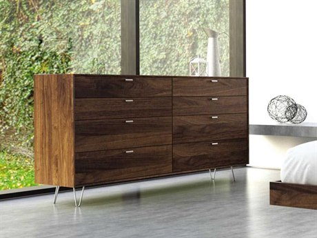 Copeland Furniture Canto Natural Walnut Eight-Drawers Double Dresser CF2CAN8004
