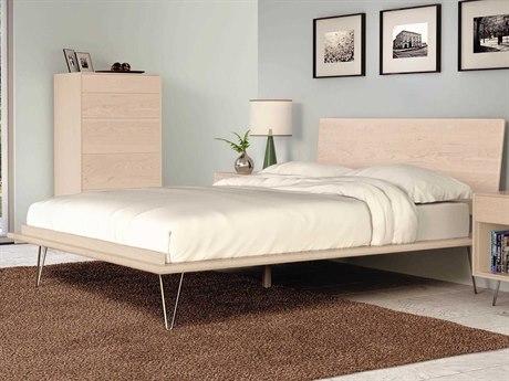 Copeland Furniture Canvas Platform Bed with Metal Legs CF1CVS02