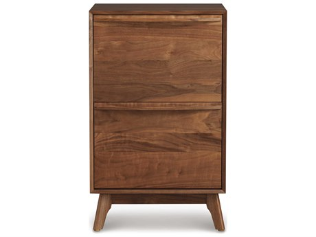 Copeland Furniture Catalina Natural Walnut Narrow File Cabinet