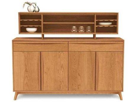 Copeland Furniture Catalina 66''L x 18''W Rectangular Buffet with Hutch