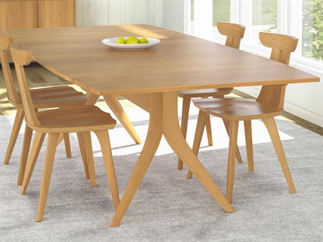 Copeland Furniture Catalina 66''-90''L x 46''W Rectangular Trestle Extension Dining Table