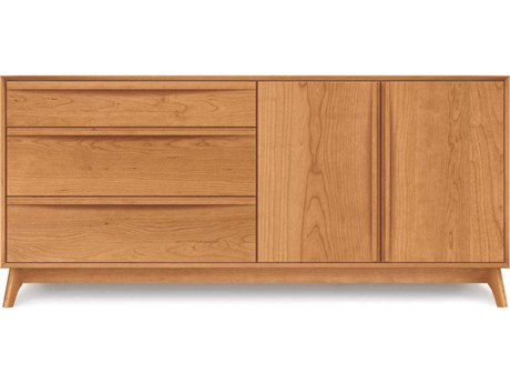 Copeland Furniture Catalina Three-Drawers on Left Double Dresser
