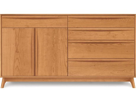 Copeland Furniture Catalina Four-Drawers on Right Double Dresser