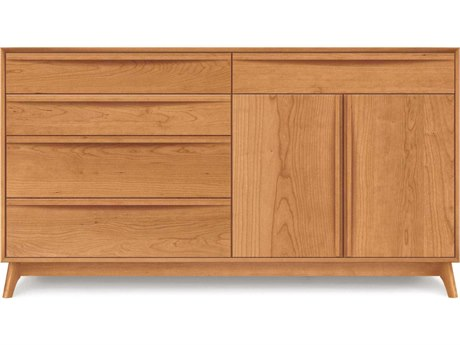 Copeland Furniture Catalina Four-Drawers on Left Double Dresser