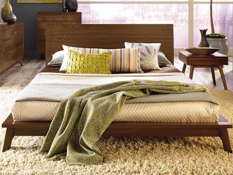 Copeland Furniture Catalina Platform Bed with 40'' High Headboard