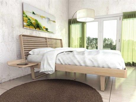 Copeland Furniture Contour Platform Bed with Left Shelf Nightstand