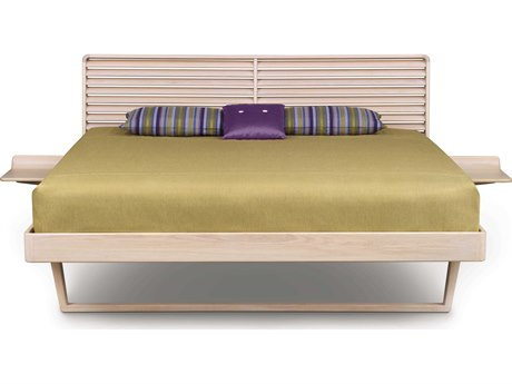 Copeland Furniture Contour Platform Bed with Left & Right Shelf Nightstand