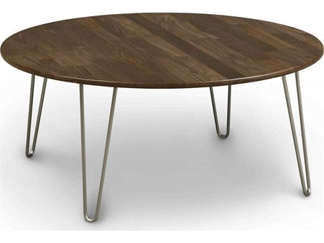 Copeland Furniture Essentials 42'' Wide Round Coffee Table with Metal Legs
