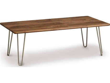 Copeland Furniture Essentials 48''L x 24''W Rectangular Coffee Table with Metal Legs