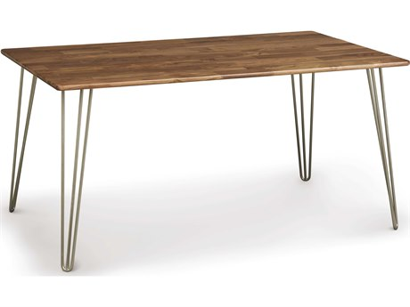 Copeland Furniture Essentials 60''L x 36''W Rectangular Dining Table with Metal Legs