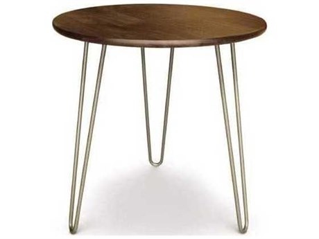 Copeland Furniture Essentials 24'' Wide Round End Table with Metal Legs
