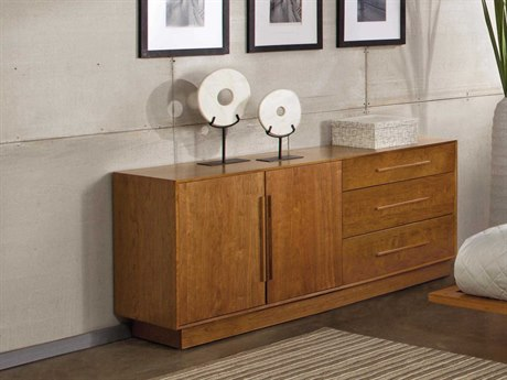 Copeland Furniture Moduluxe 66''L x 18''W Rectangular Three-Drawer on Right Buffet