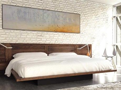 Copeland Furniture Moduluxe-35 Platform Bed with Clapboard Headboard CF1MCD32