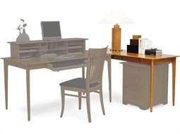 Sarah 60''L x 30''W Rectangular Return Credenza Desk with Keyboard Tray