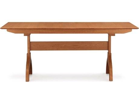Copeland Furniture Sarah 66''-90''L x 42''W Rectangular Trestle Extension Dining Table