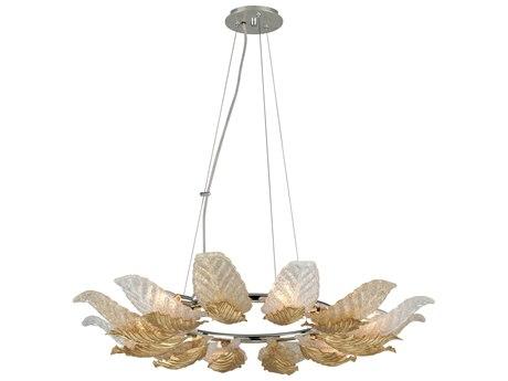 Corbett Lighting Anello Gold Leaf / Polished Stainless Six-Light 36'' Wide Pendant Light