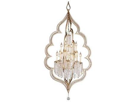 Corbett Lighting Bijoux Silver Leaf / Antique Mist 12-Light 32'' Wide Chandelier CT161412