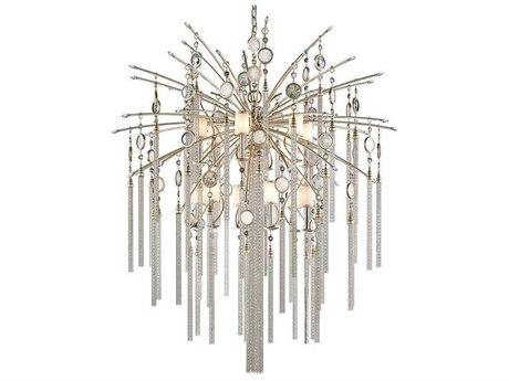 Corbett Lighting Bliss Topaz Leaf 12-Light 48'' Wide Pendant Light CT162713